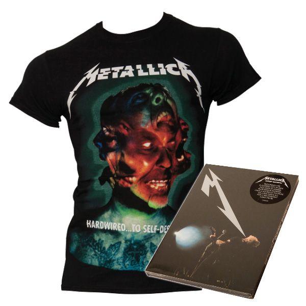 Metallica - Bundle T-Shirt Hardwired & DVD Quebec Magnetic - Live 2009