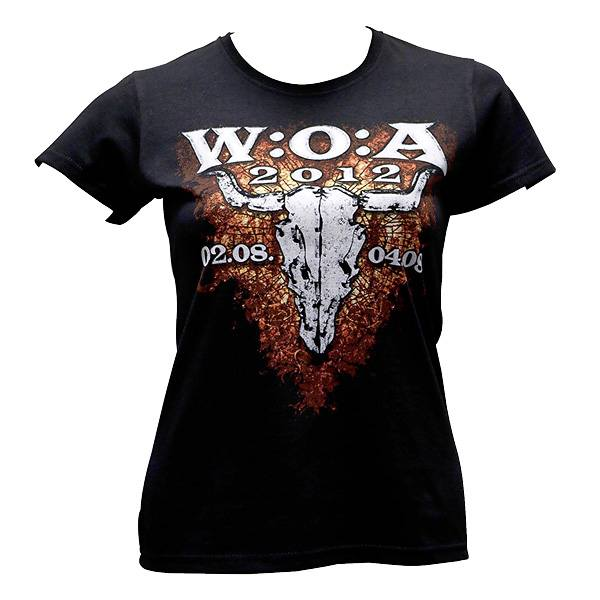 Wacken Girlie T-Shirt 2012 Logo - schwarz