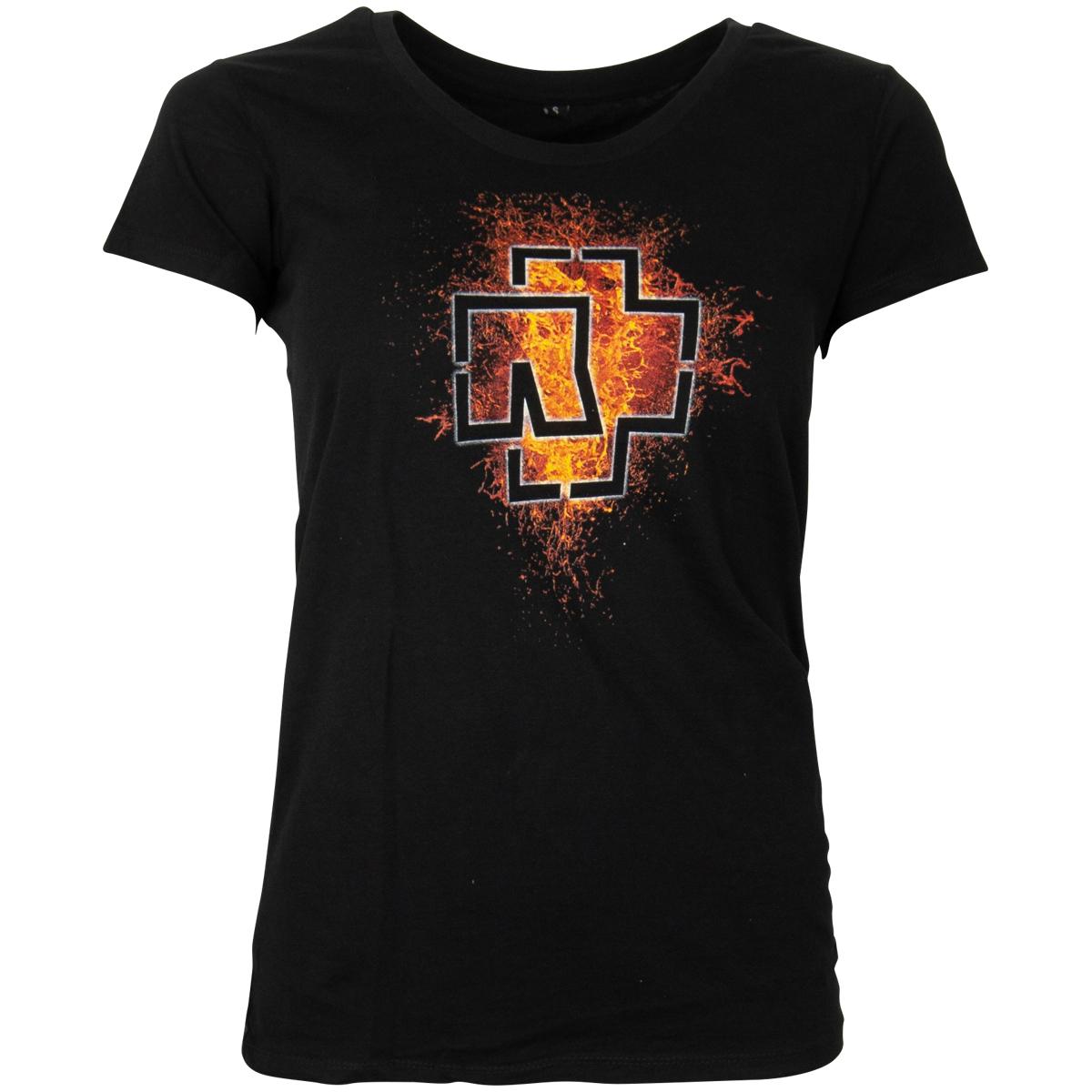 Rammstein Kapuzenpullover, Frauen Lava Logo schwarz