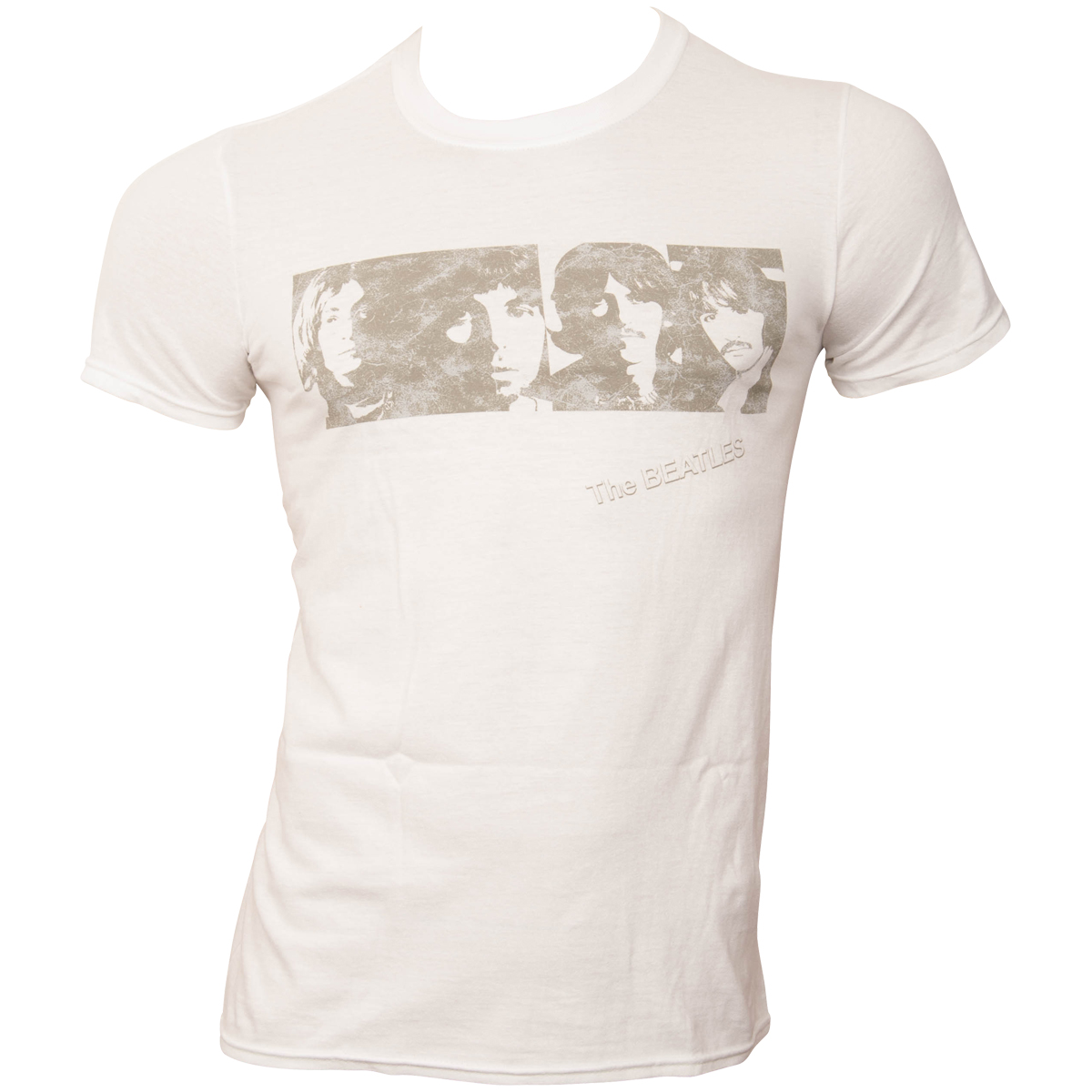 The Beatles - T-Shirt White Album Faces - weiß