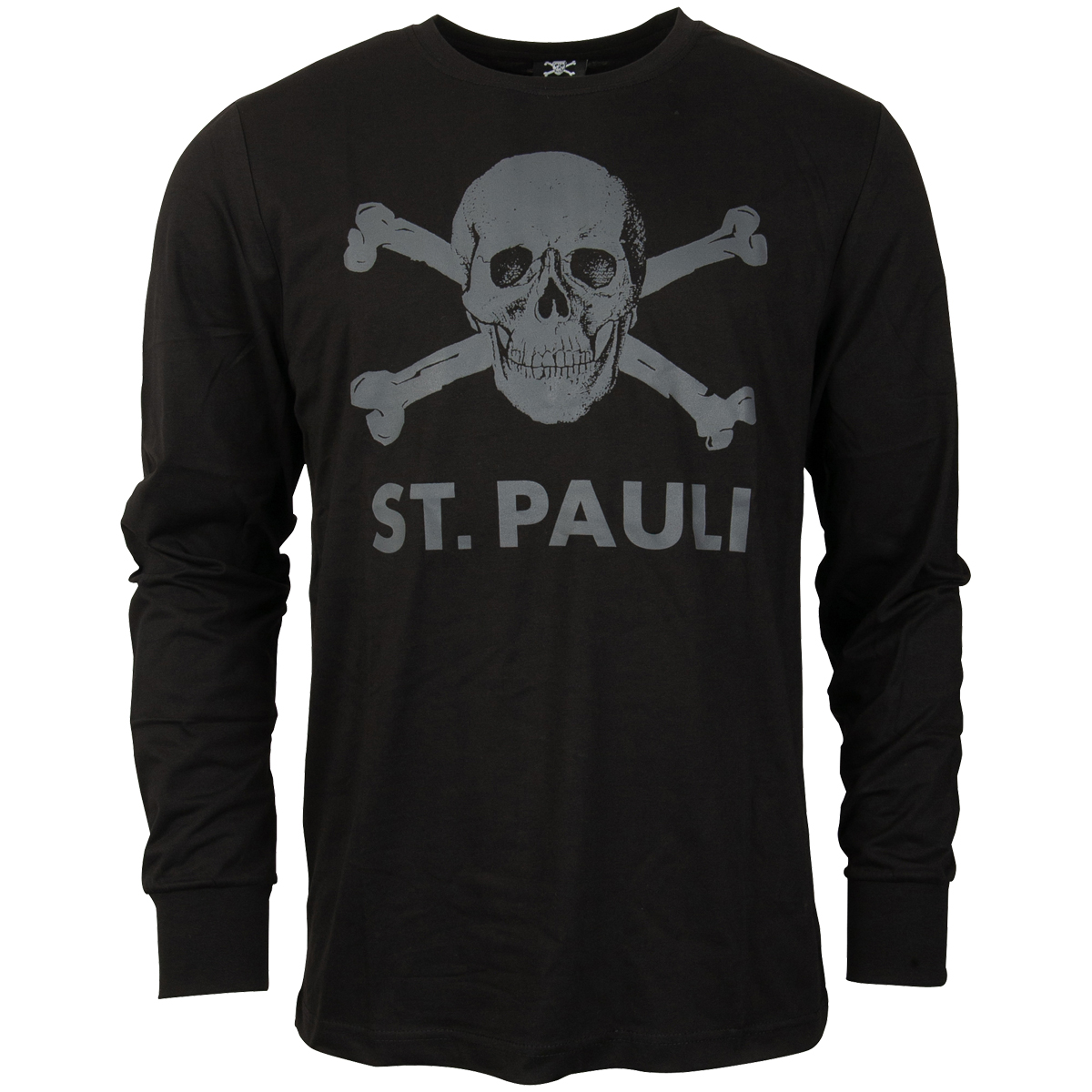 FC St. Pauli - Longsleeve Totenkopf - schwarz