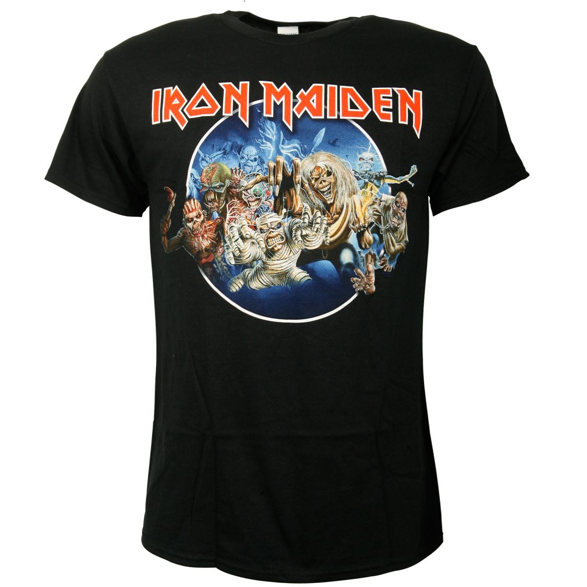 Iron Maiden - T-Shirt Wasted Years Circle - schwarz