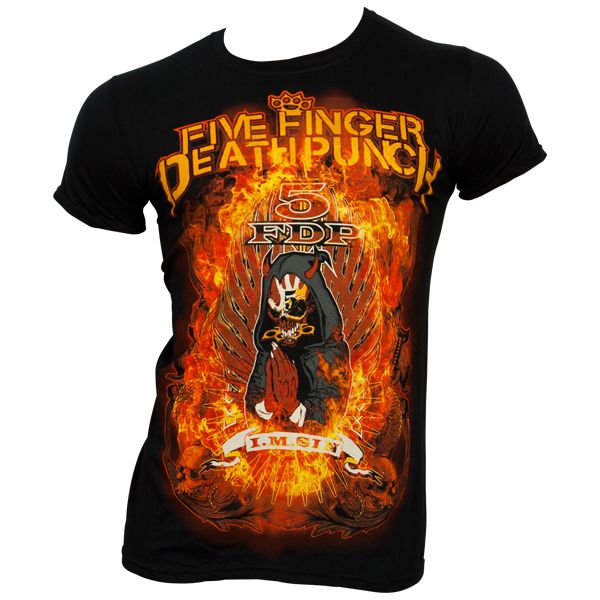 Five Finger Death Punch - T-Shirt Burn In Sin - schwarz