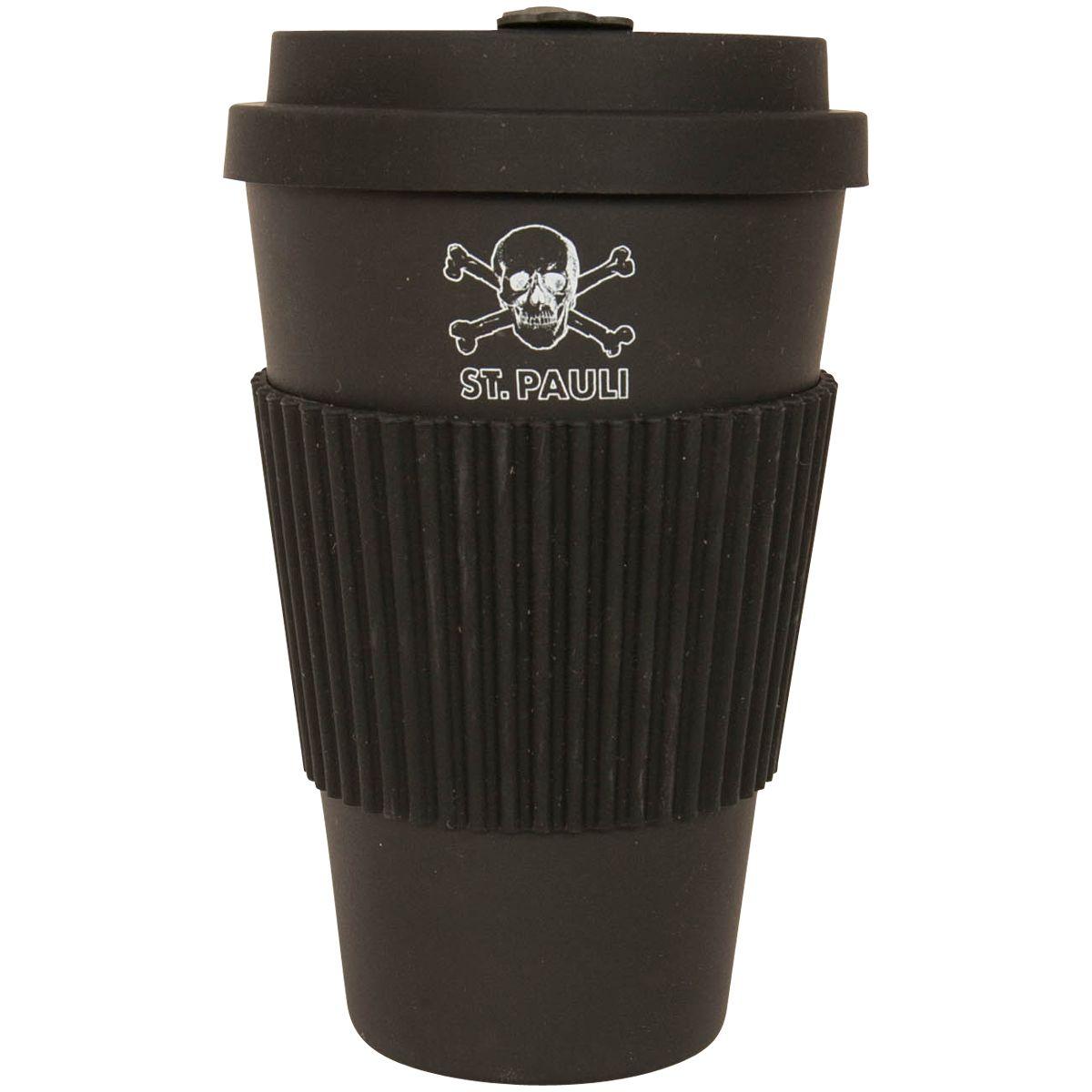 Fc St Pauli Black Coffee Mug Bamboo Skull Rocknshop