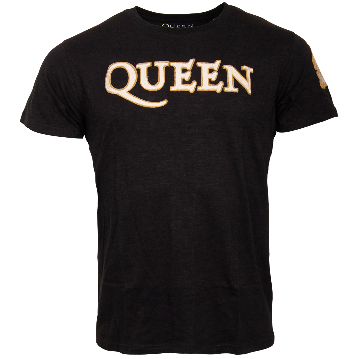 Queen - T-Shirt Logo & Crest - dunkelblau