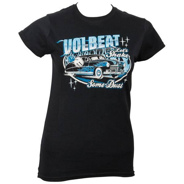 Volbeat - Girlie T-Shirt Car And Dice - schwarz
