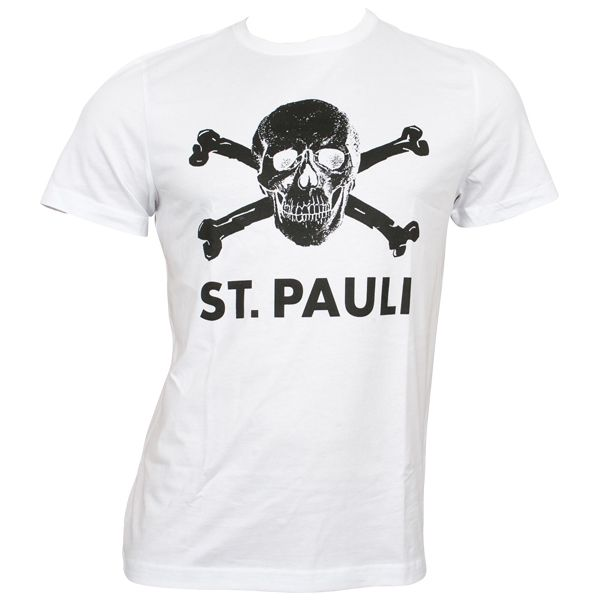 FC St. Pauli - T-Shirt Totenkopf - weiß