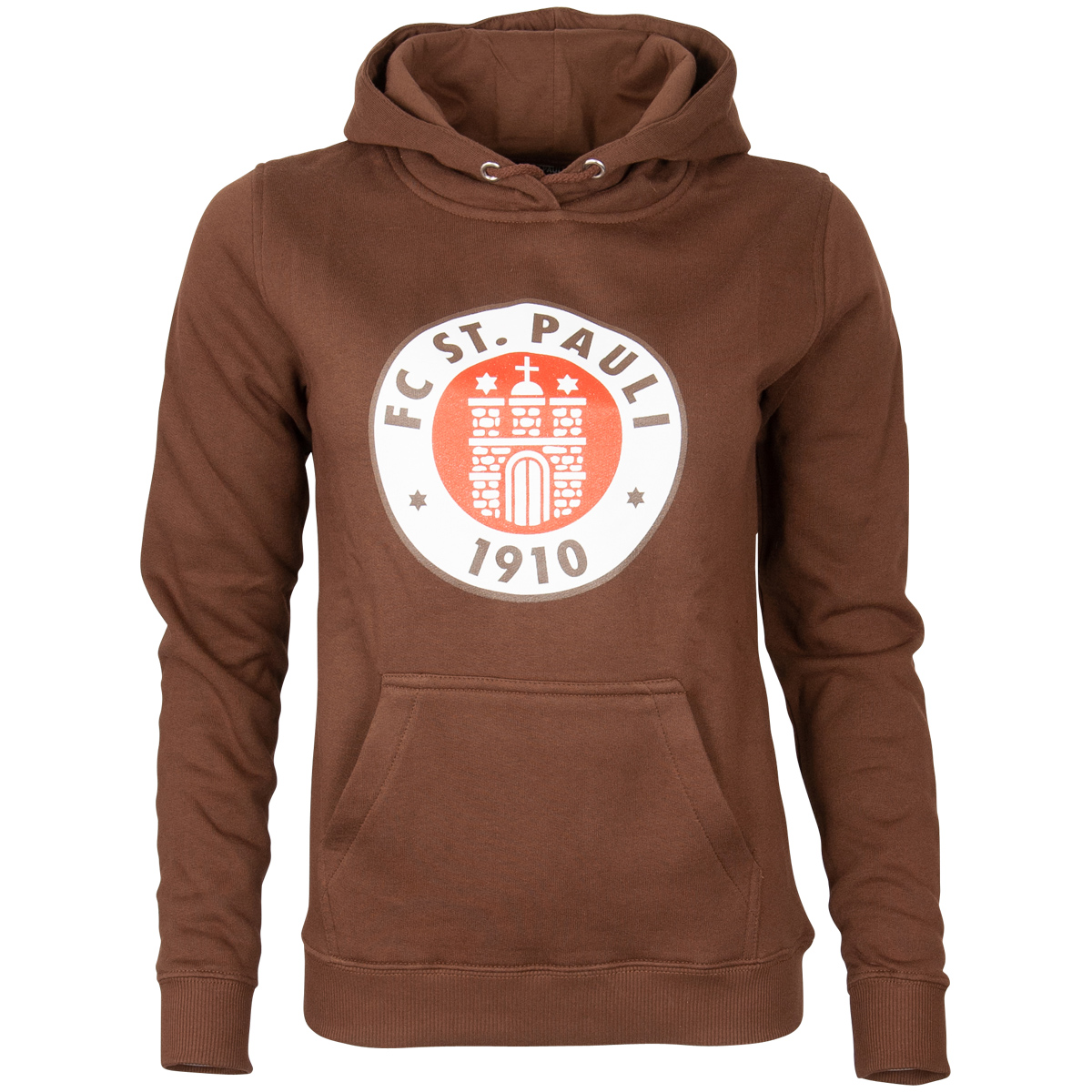 FC St. Pauli - Damen Kapuzenpullover Logo - braun
