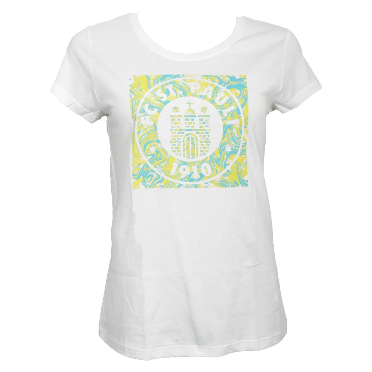 FC St. Pauli - Damen T-Shirt Wirbel - weiß