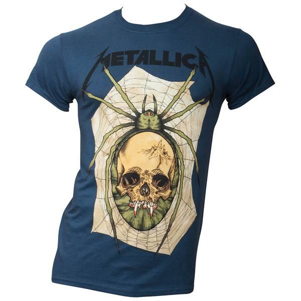 Metallica - T- Shirt Spider - blau