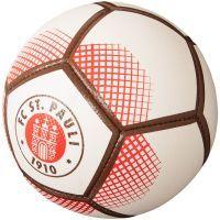 FC St. Pauli - Ball mit Vereinslogo - weiß-braun-rot