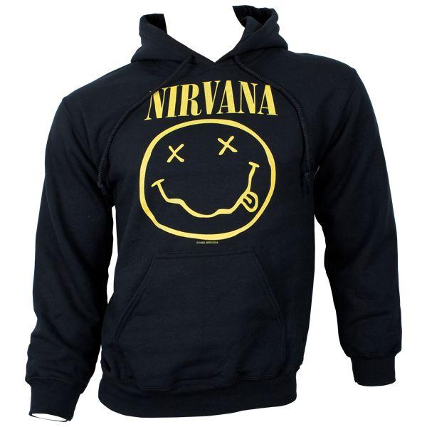 Nirvana - Kapuzenpullover Smiley - schwarz