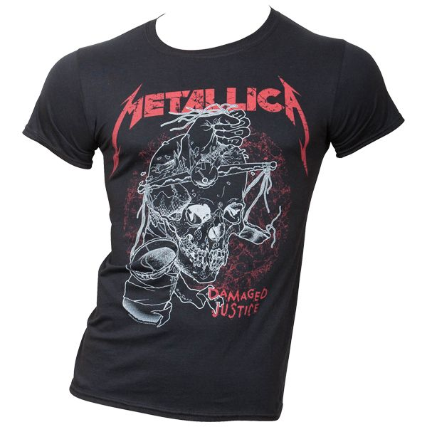 Metallica - T- Shirt Damaged Justice - schwarz