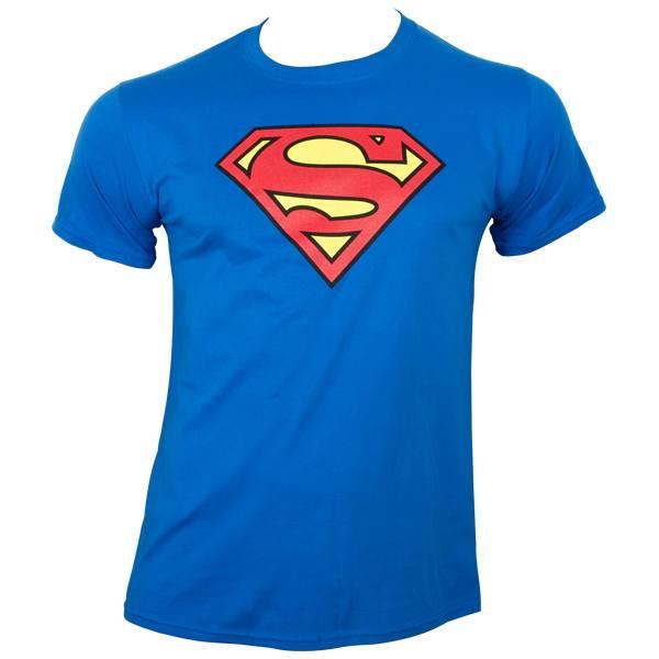 Superman - T-Shirt Logo - blau