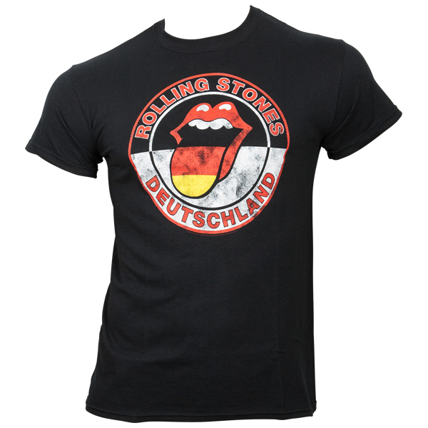 The Rolling Stones - T-Shirt Tongue Circle Germany - schwarz
