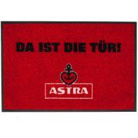 Astra - Fußmatte - Da ist die Tür- rot