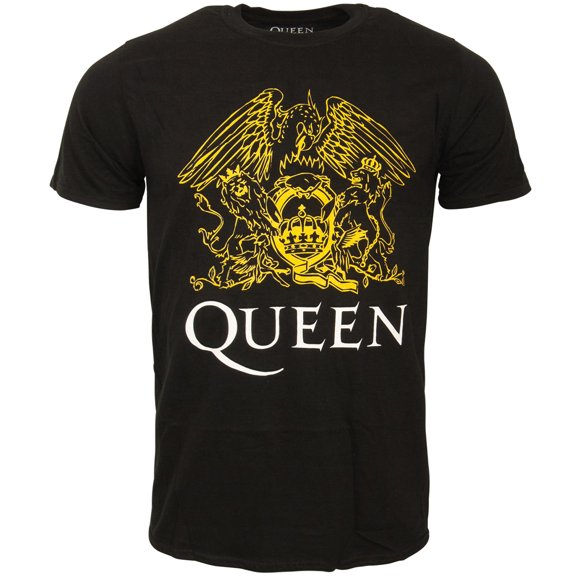 Queen - T-Shirt Crest - schwarz