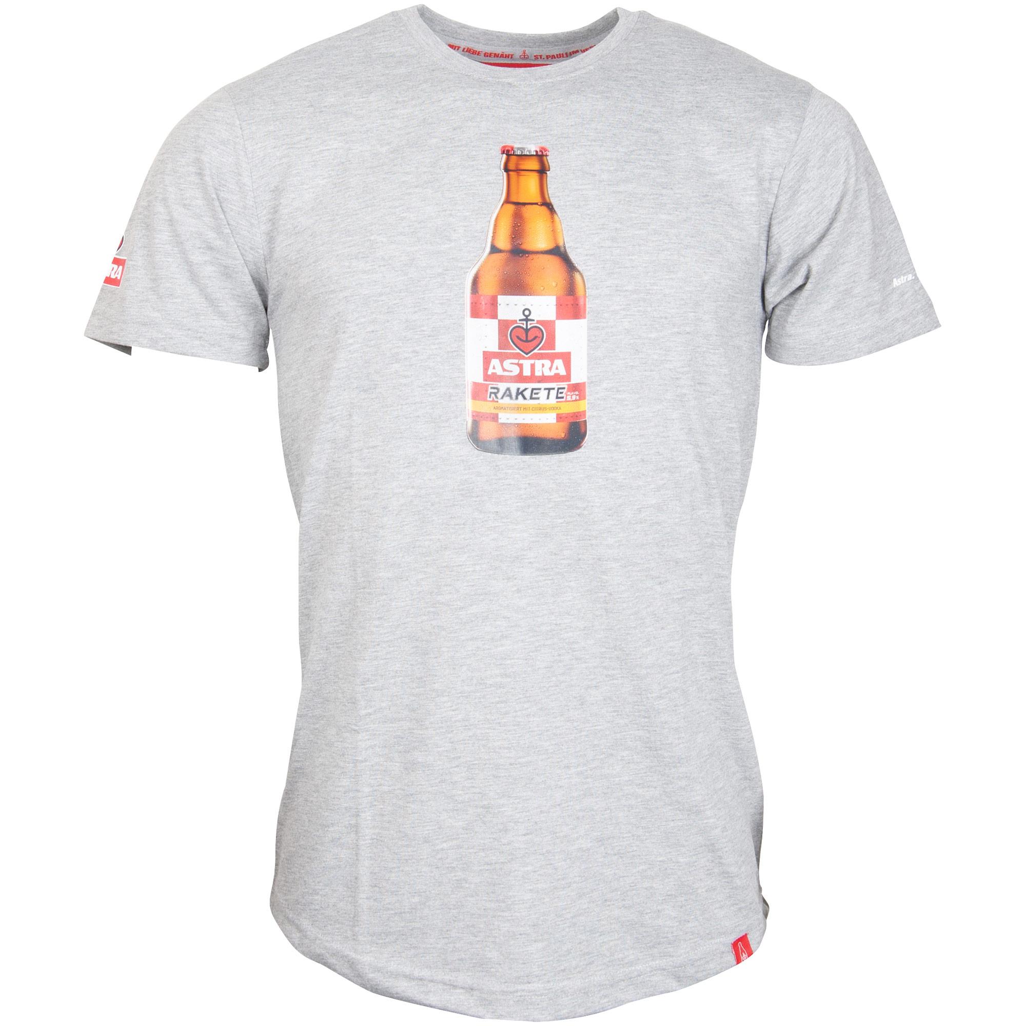 Astra - Herren T-Shirt Rakete Knolle - grau