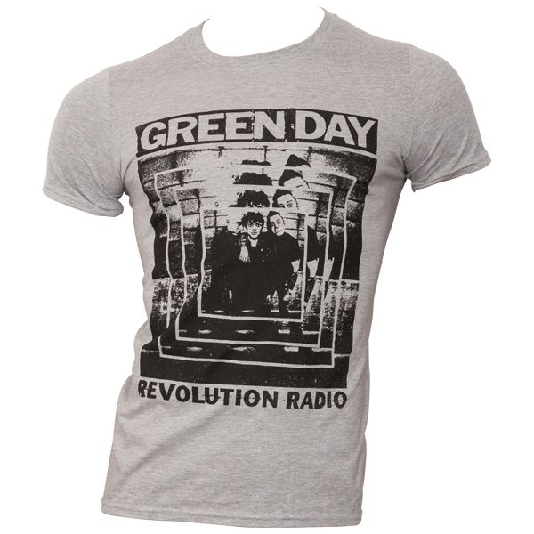 Green Day - T-Shirt Power Shot - grau