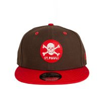 FC St. Pauli - Cap 9fifty Totenkopf Filzpatch - braun-rot