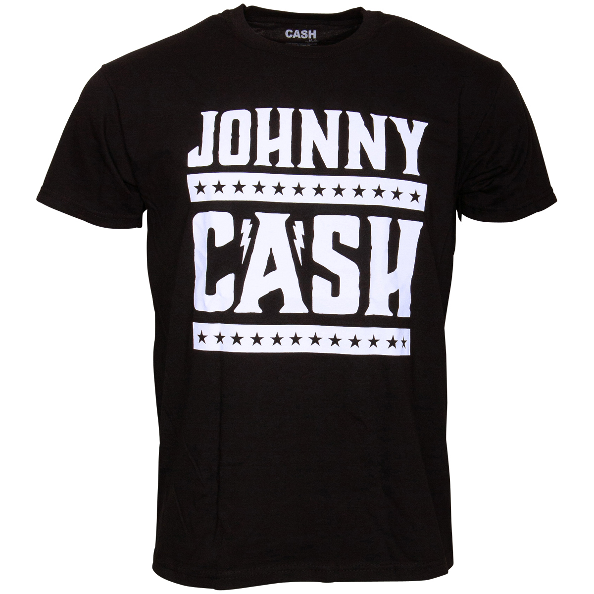 Johnny Cash - T-Shirt Simple Logo - schwarz