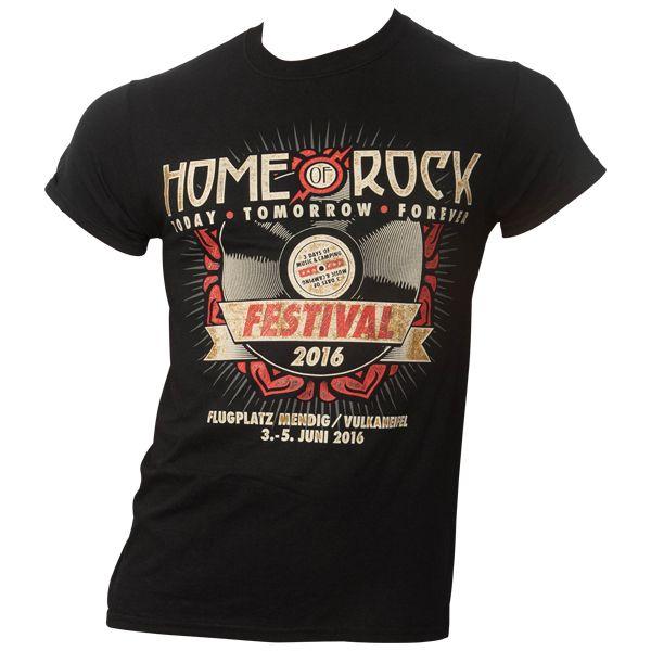 Rock am Ring 2016 - T-Shirt Vinyl mit Line-Up - schwarz