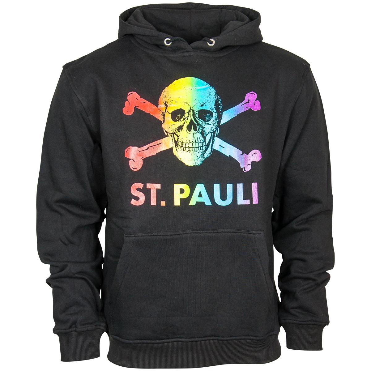 FC St. Pauli - Kapuzenpullover Regenbogen - schwarz