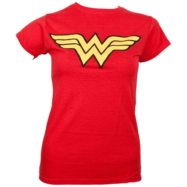 Wonder Woman - Girlie T-Shirt Logo - rot