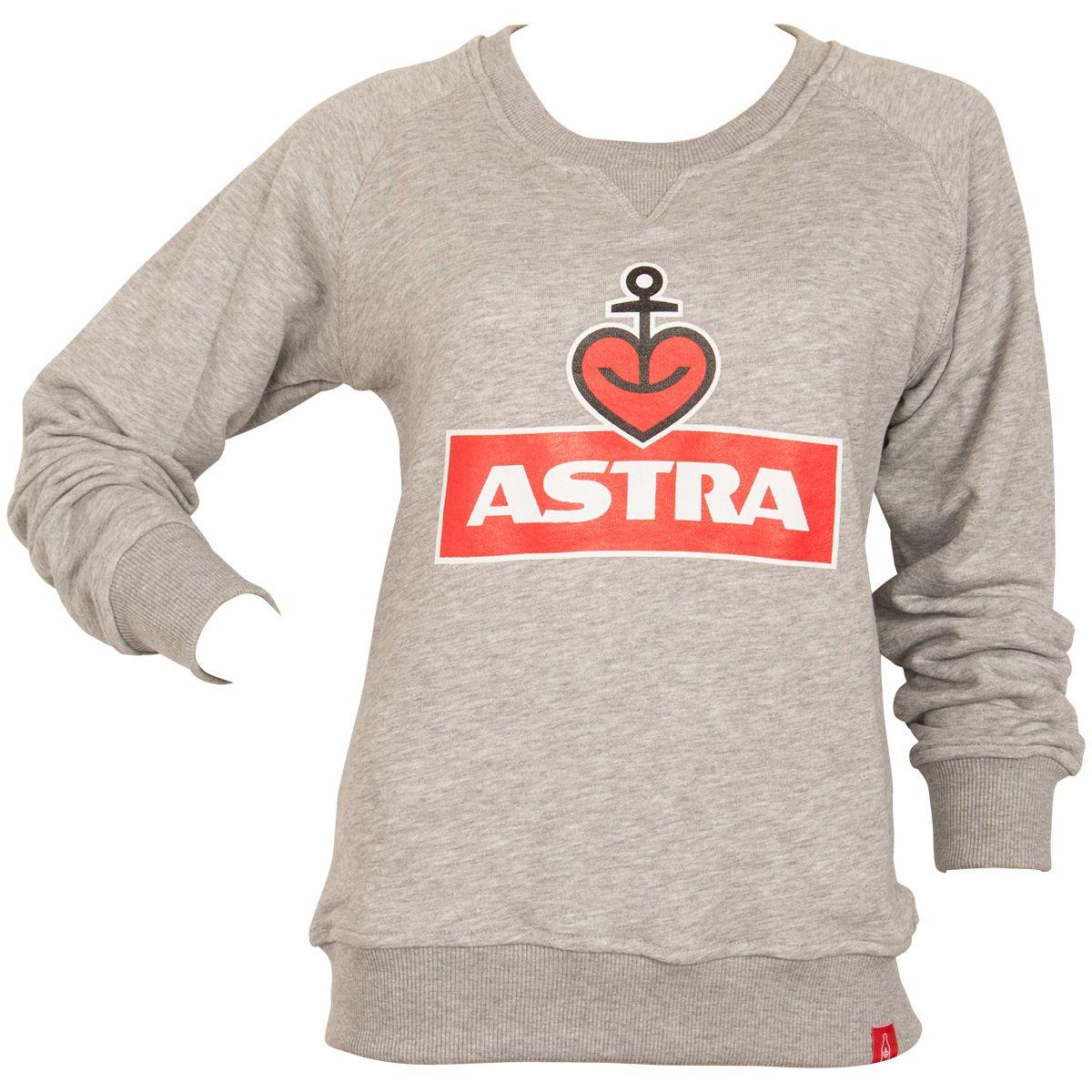Astra - Damen Sweatshirt Logo - grau