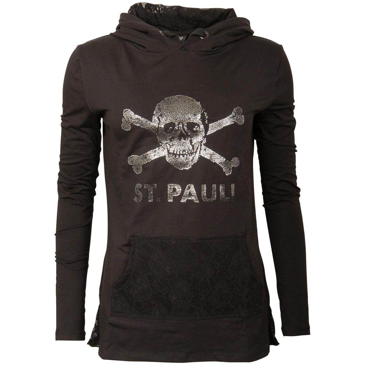 FC St. Pauli - Damen Kapuzenpullover Punk & Lace - schwarz