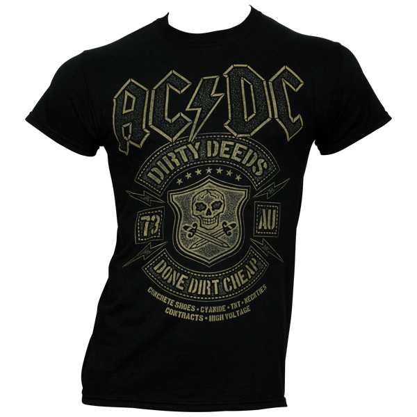 AC/DC T-Shirt Black Done - schwarz