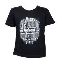 FC St. Pauli - Kinder T-Shirt Zuhaus - schwarz