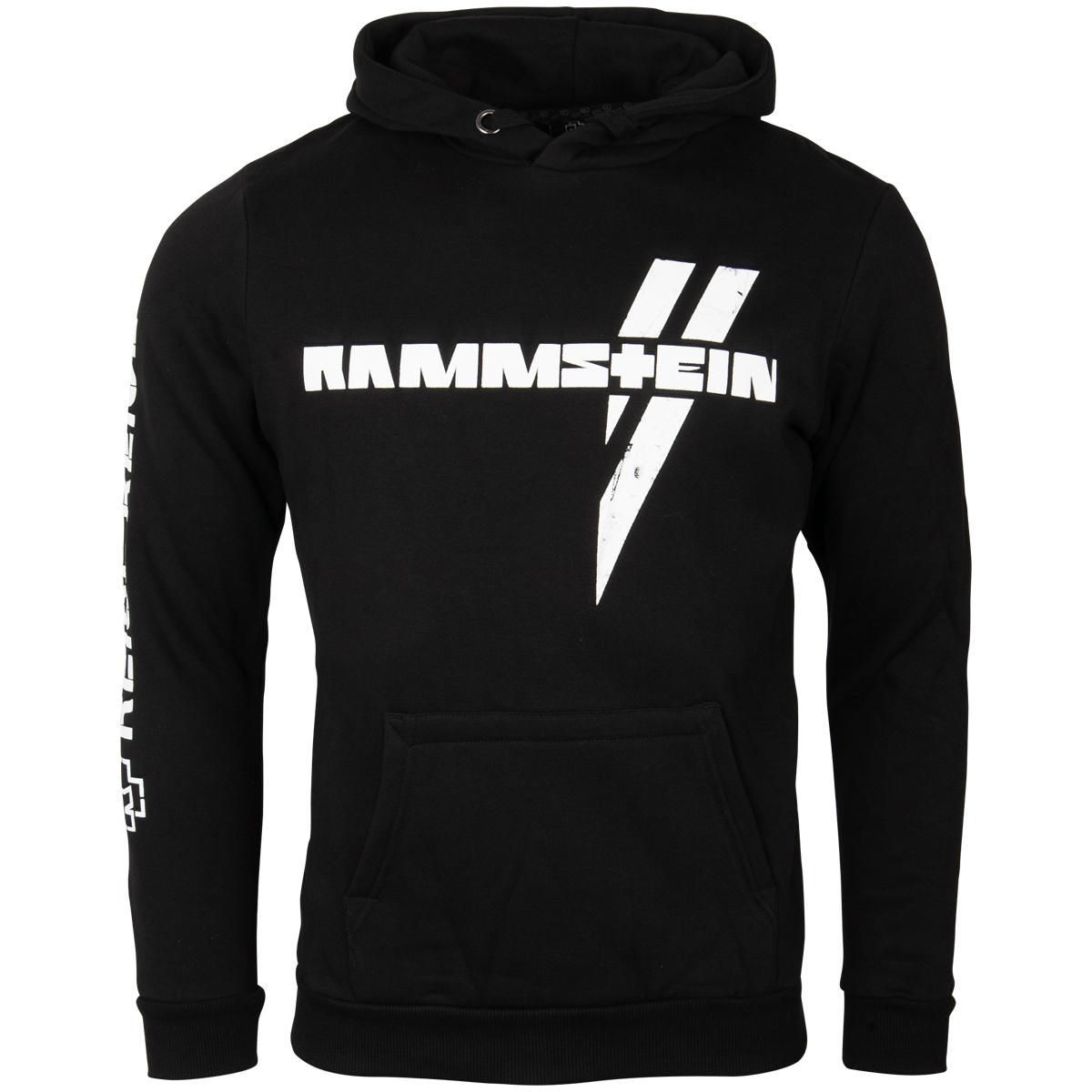 Rammstein - Kapuzenpullover Weißes Kreuz - schwarz
