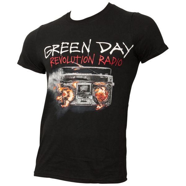 Green Day - T-Shirt Revolution Radio Cover - schwarz