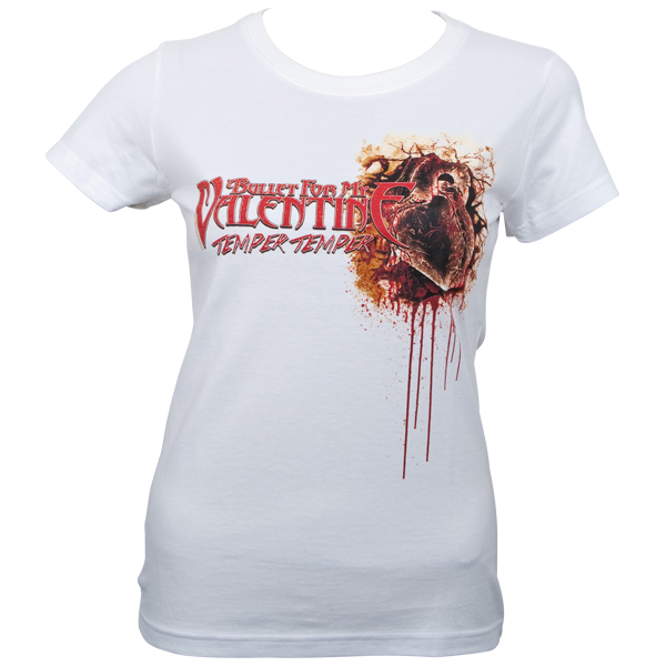 Bullet For My Valentine - Girlie T-Shirt Dead Heart - weiß
