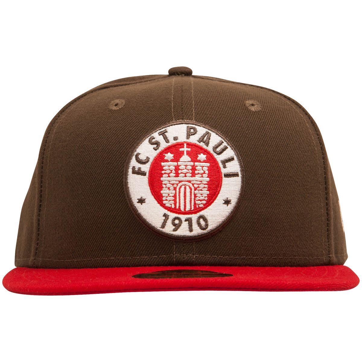 FC St. Pauli - Cap 59fifty Logo - Braun-Rot