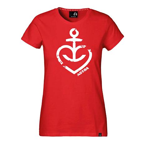 Astra - Damen T-Shirt Herzanker - rot