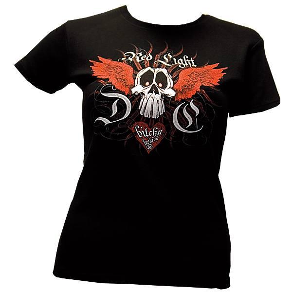 Red Light DC - Bitchy Girl - Girly Shirt - schwarz