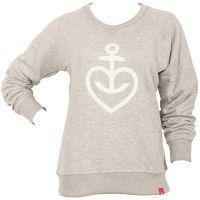 Astra - Damen Sweatshirt Herzanker - grau