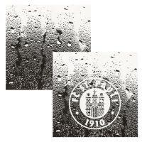 FC St. Pauli - Fliesenaufkleber Logo 2er Set - transparent-schwarz