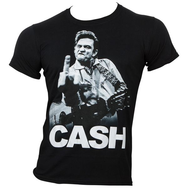 Johnny Cash - T-Shirt - Cash Finger - schwarz
