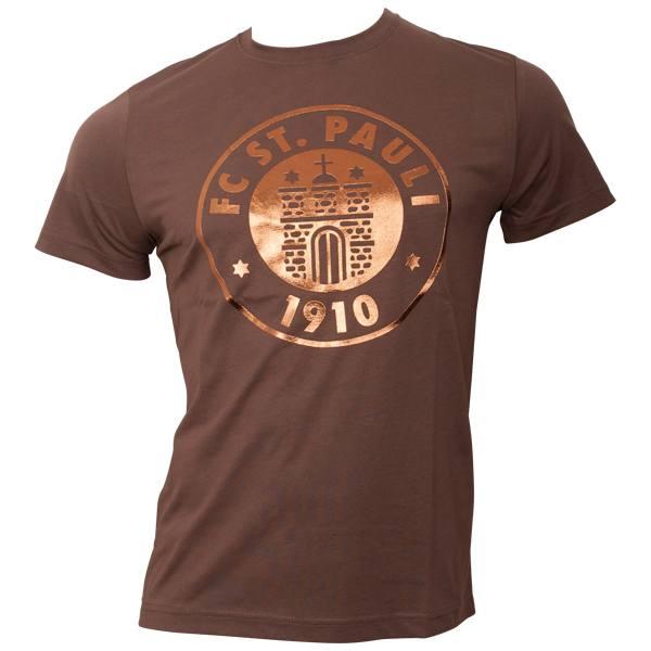 FC St. Pauli - T-Shirt Logo Bronze - braun