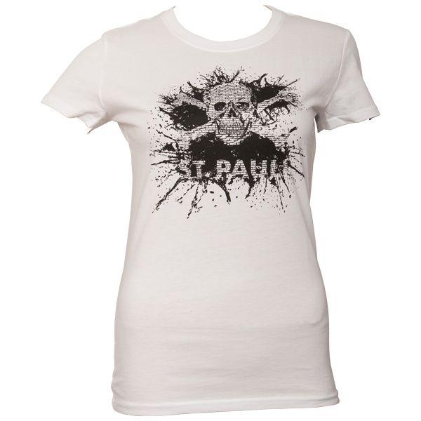 FC St. Pauli Frauen T-Shirt Splash TK Schwarz- Weiß