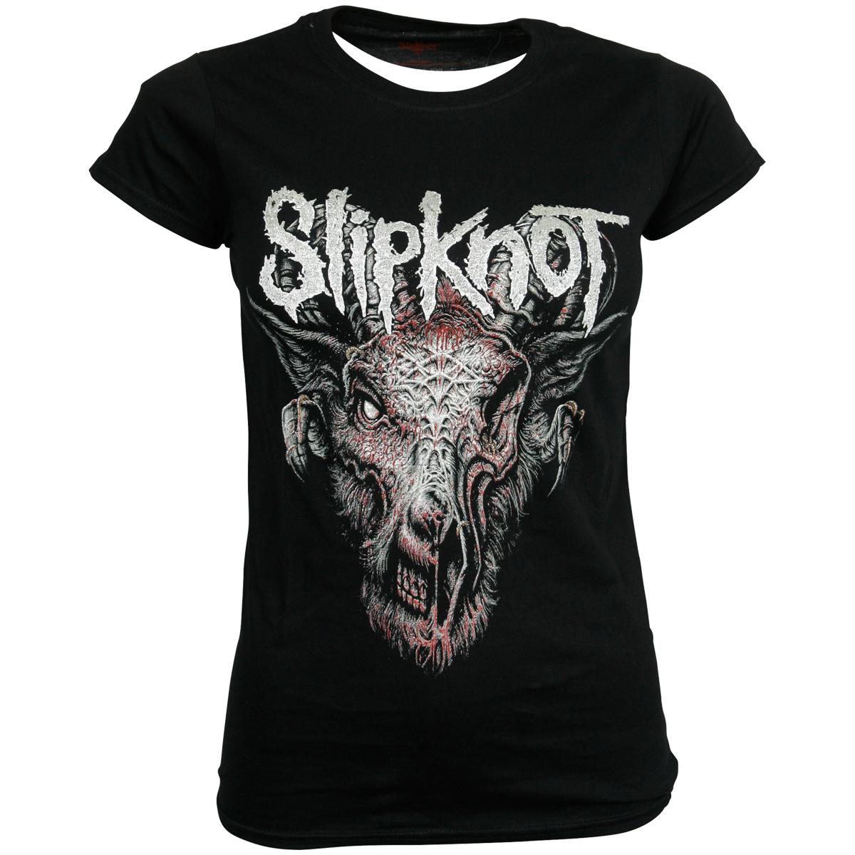 Slipknot - Damen T-Shirt Infected Goat - schwarz