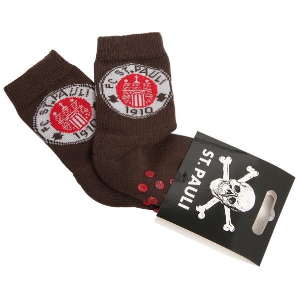FC St. Pauli - Baby Socken Logo - braun