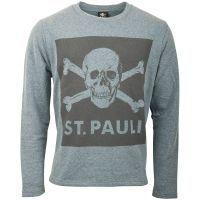 FC St. Pauli - Pullover Blue Screen Totenkopf - grau