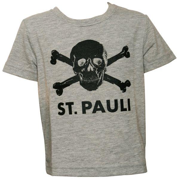 FC St. Pauli - Kinder T-Shirt Totenkopf - grau