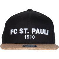 FC St. Pauli - Kappe Flatpeak Kork Totenkopf - schwarz