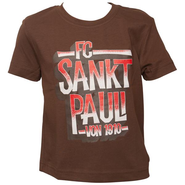 FC St. Pauli - Kinder T-Shirt Block St. Pauli 1910 - braun