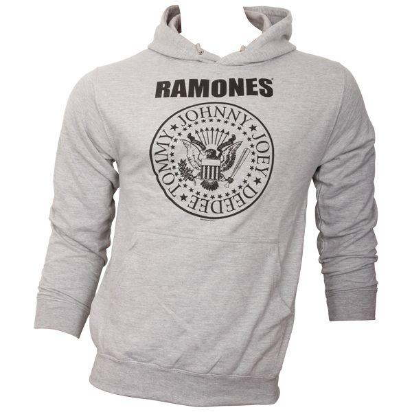 Ramones - Hoodie mit bekanntem Logo - grau